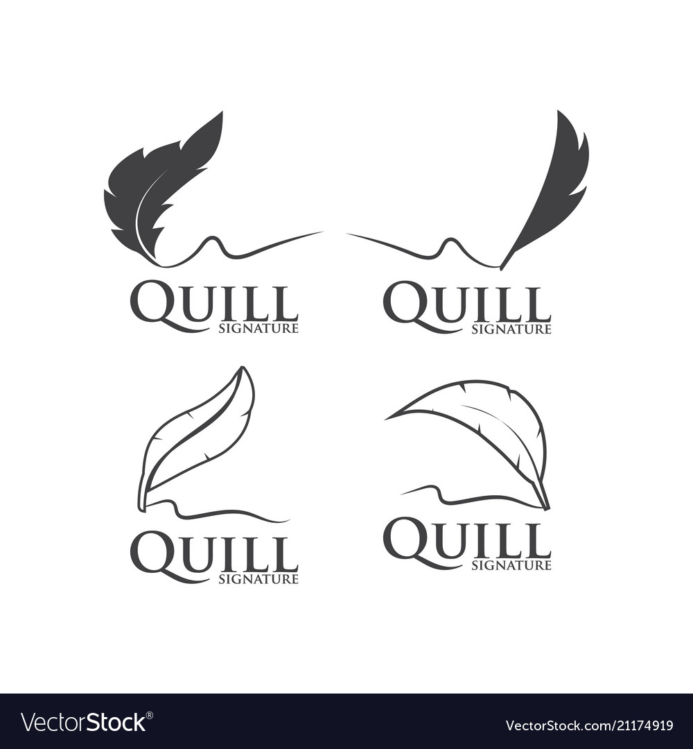Quill logo design template