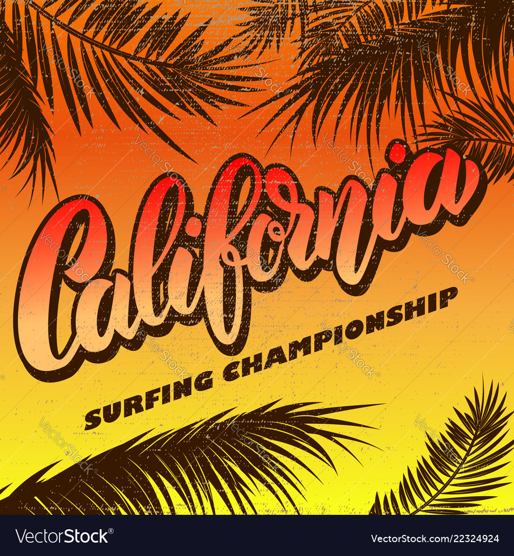 California surfing championship poster template