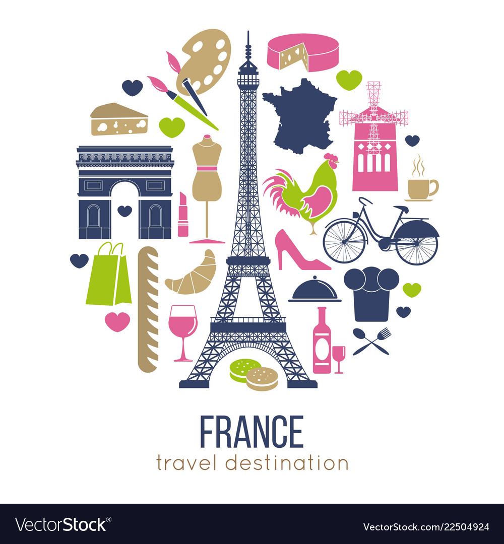 France sightseeing landmarks and famous
