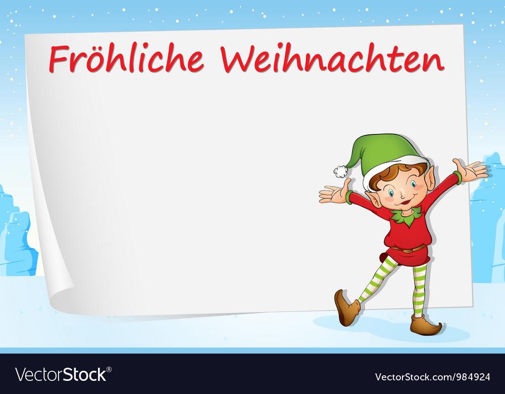 German christmas greeting royalty free vector image german christmas greeting vector image m4hsunfo