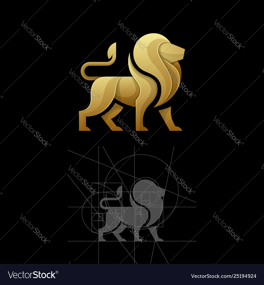 Golden ratio a lion template