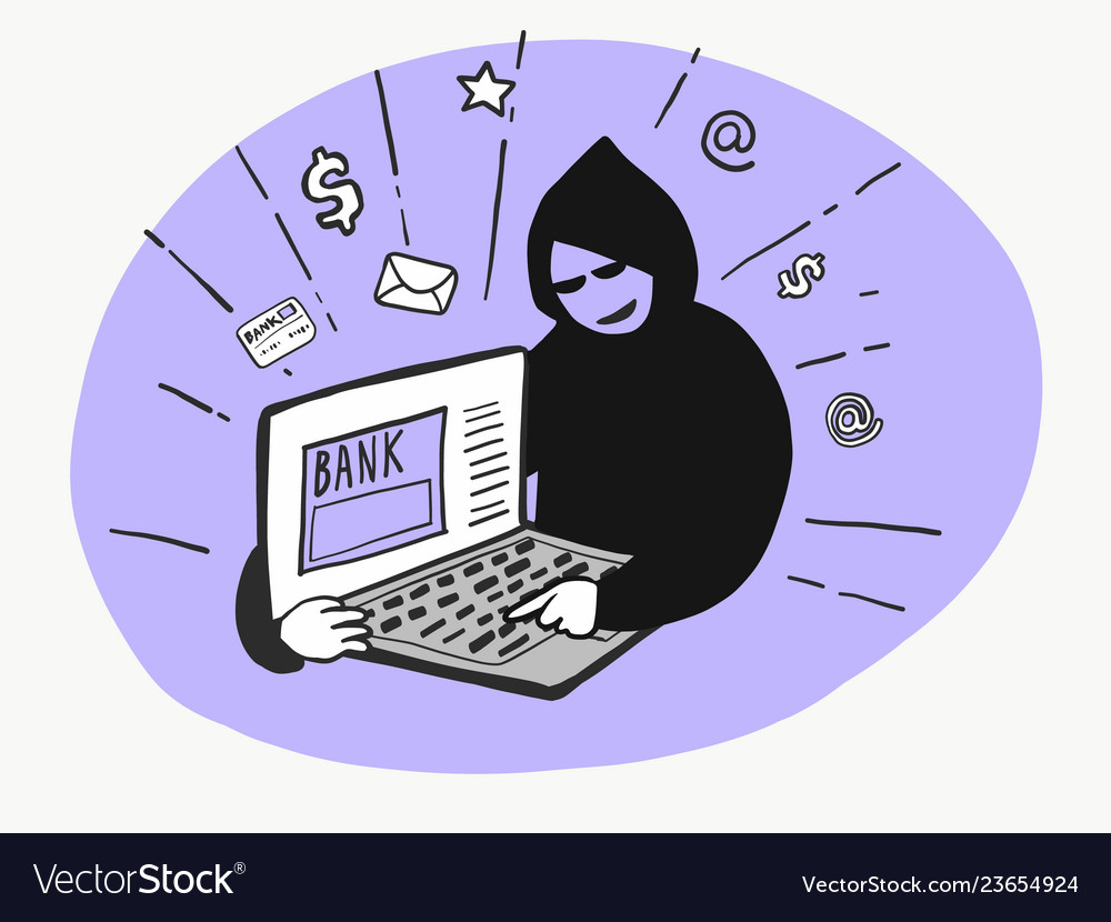 Hacker trying hack computer
