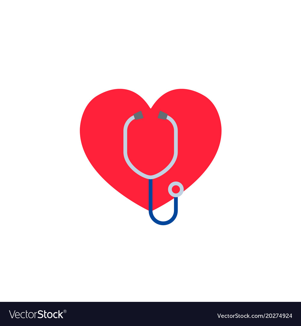 Heart with a stethoscope logo for the clinic