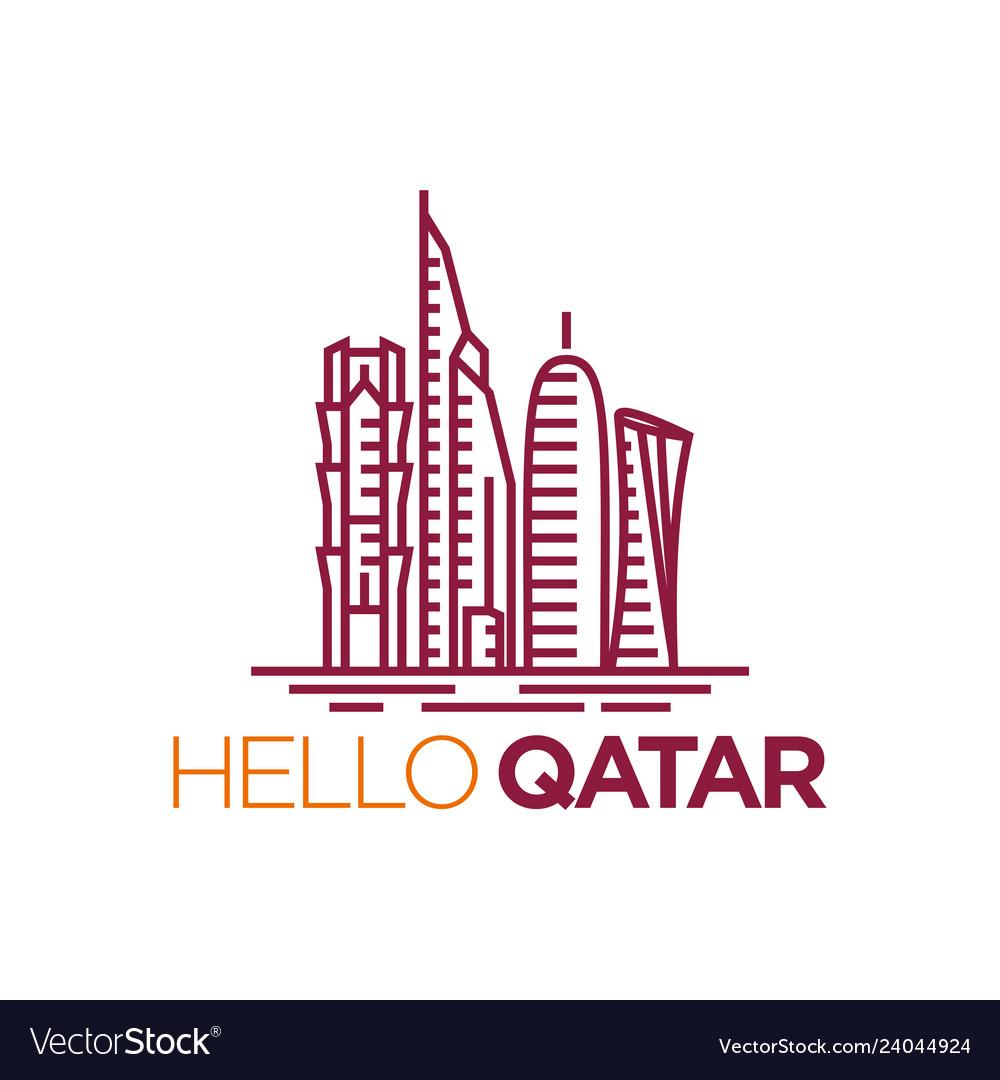 Qatar city tower icon