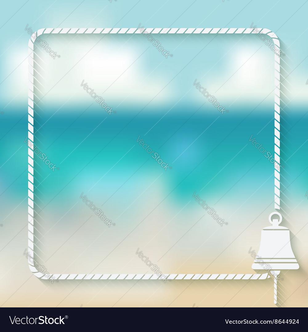 Ship bell marine background
