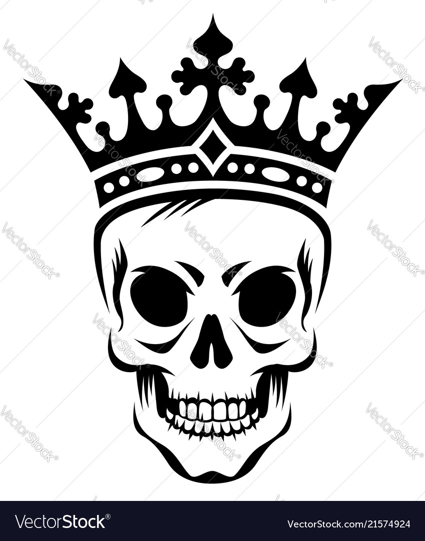 Skull in crown