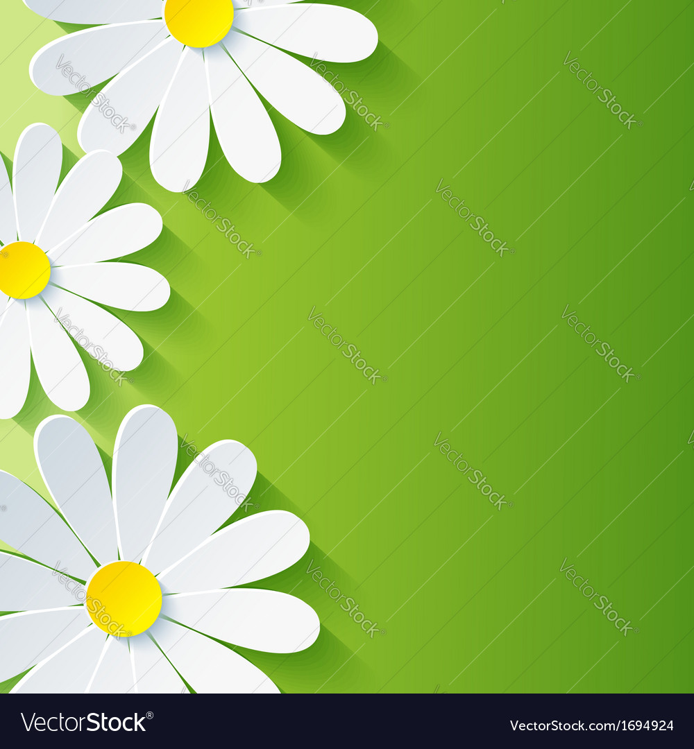 Spring abstract floral background 3d flower