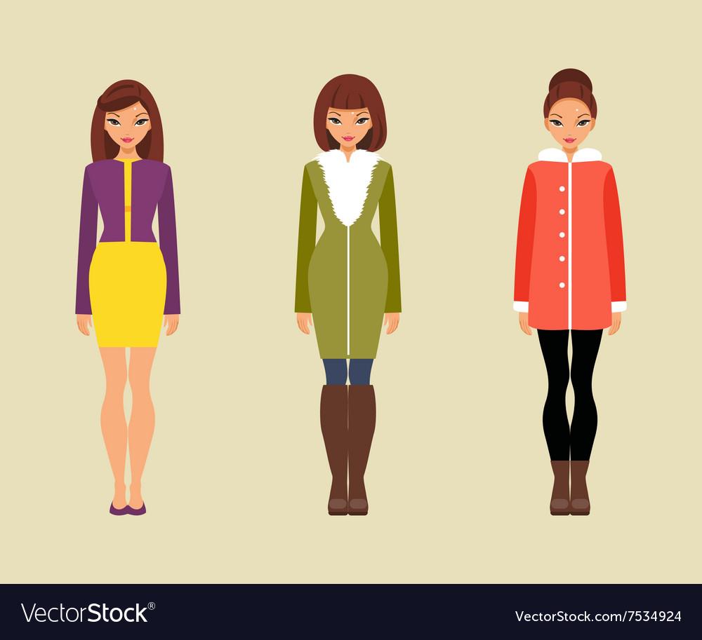Women in outerwear