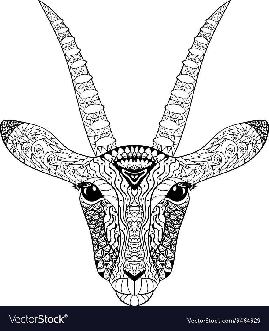 Adult coloring page for antistress art therapy Vector Image