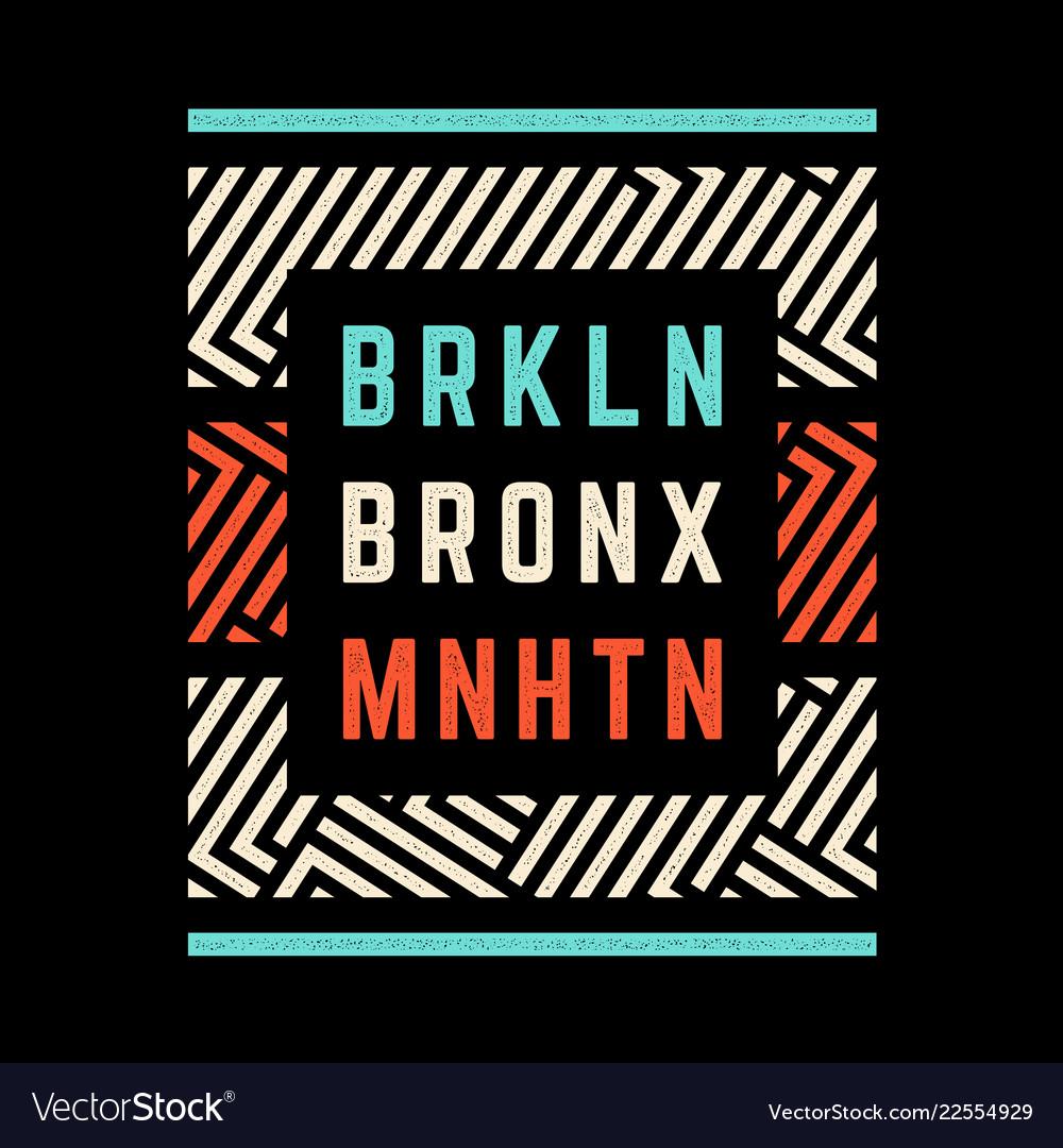 Brooklyn retro print