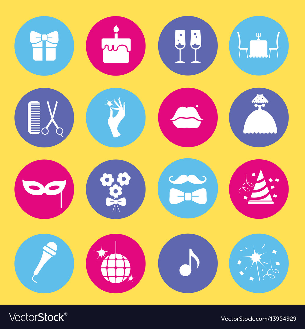 Entertainment and shopping icon set