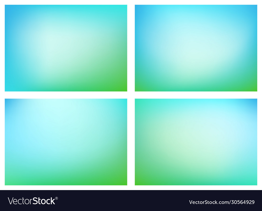 Green blue blurry backgrounds