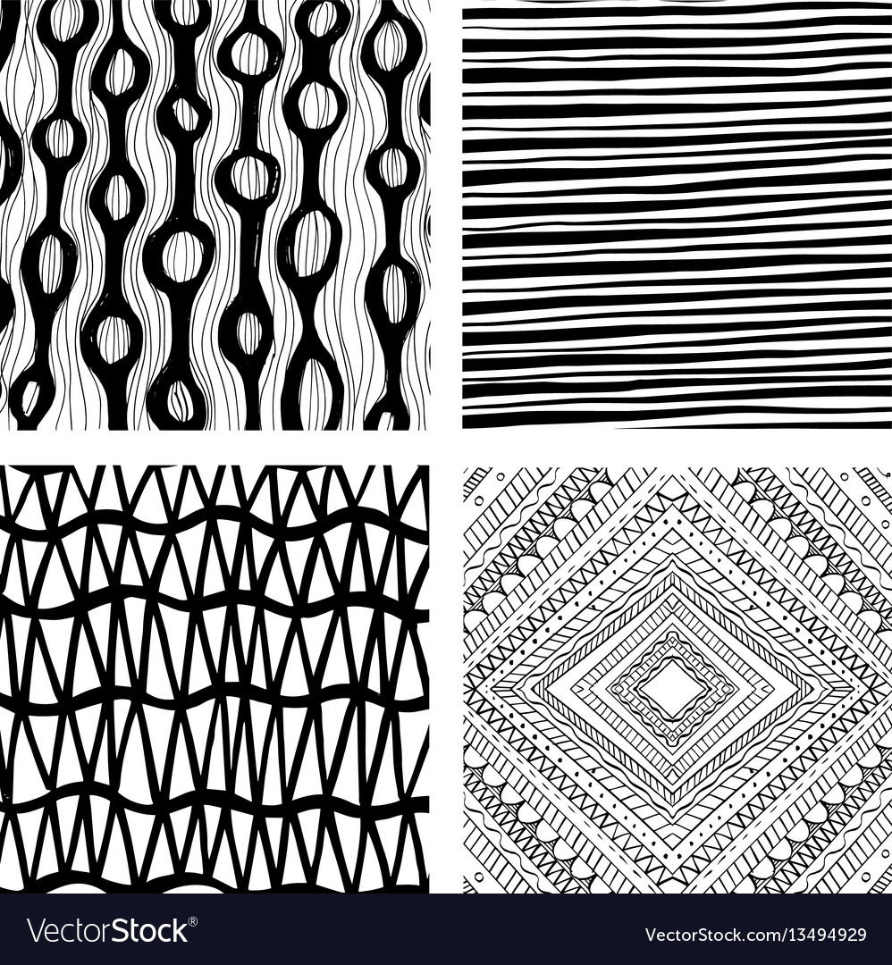 Hand drawn backgrounds vector image