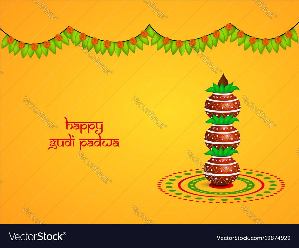 Hindu festival gudi padwa backgrou