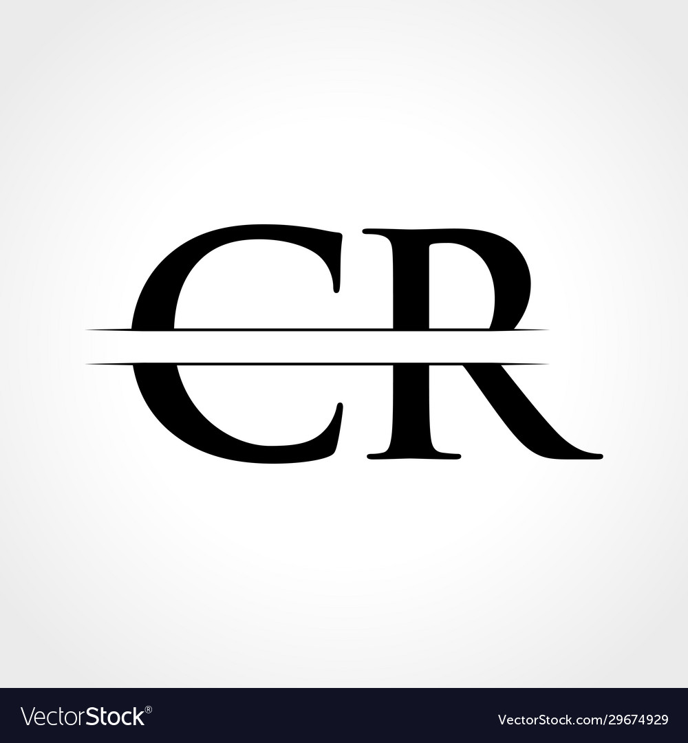 Initial cr letter logo with creative modern