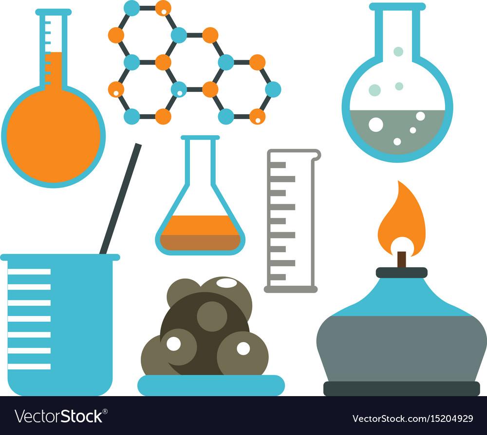 lab symbols test medical laboratory scientific vector image rh vectorstock com medical laboratory vector Laboratory Graphics