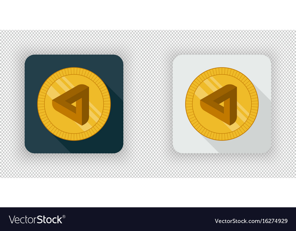 Light and dark maidsafecoin crypto currency icon vector image