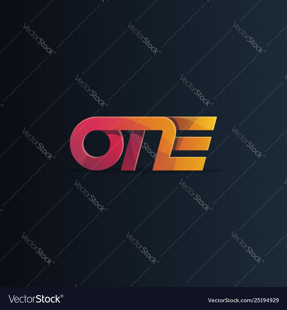 One logo logotype