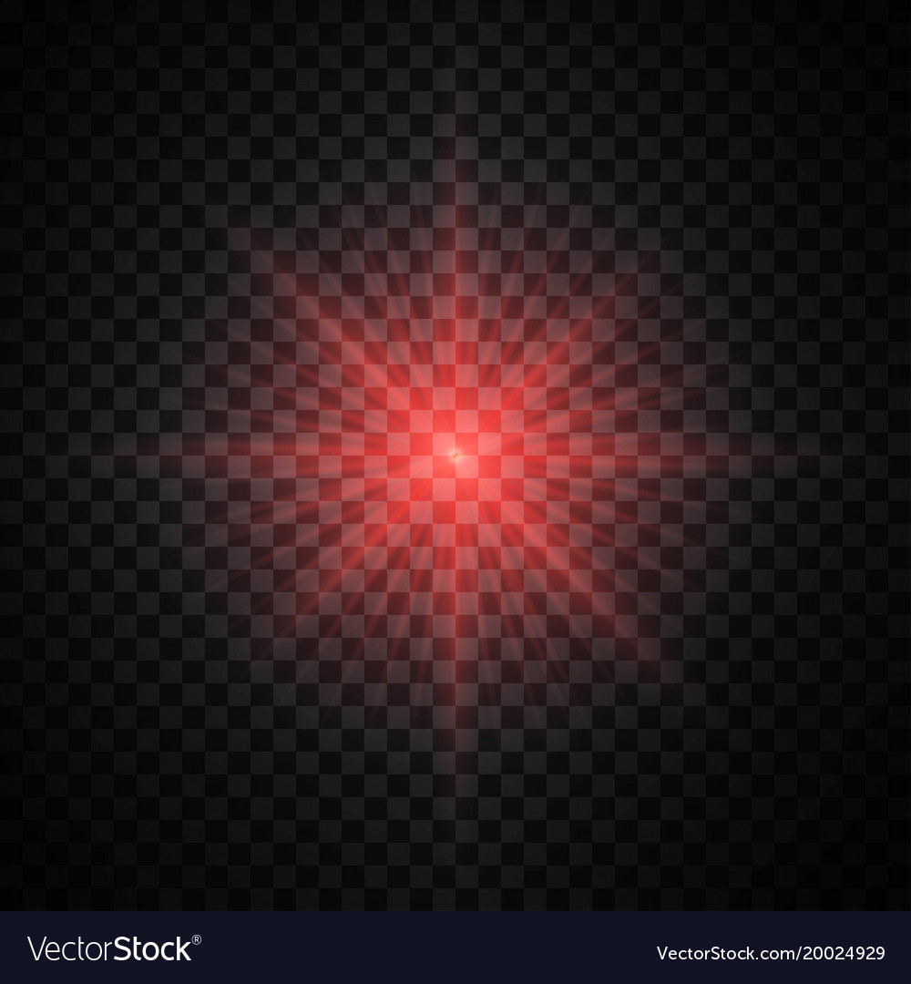 red glow light effect royalty free vector image