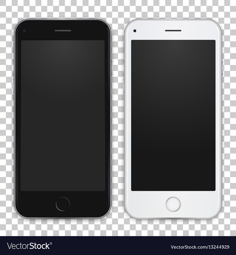 Set of black and white smart phone to present your