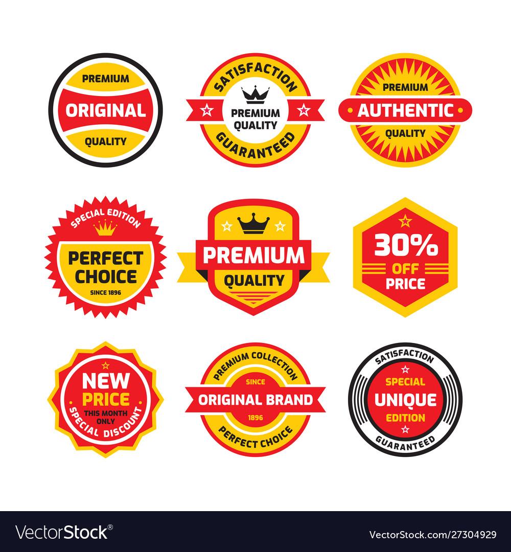Set retro business badge set