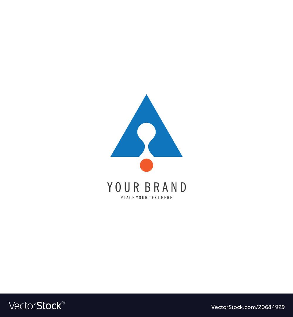 Triangle symbol business logo