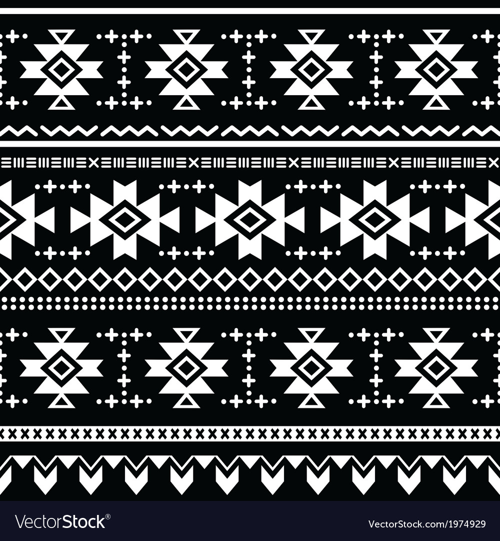 Tribal aztec seamless pattern print