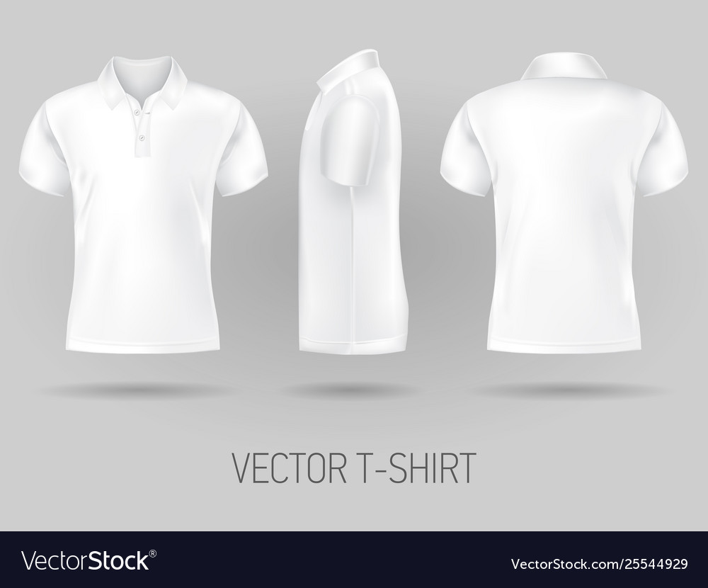 white polo shirt front and back