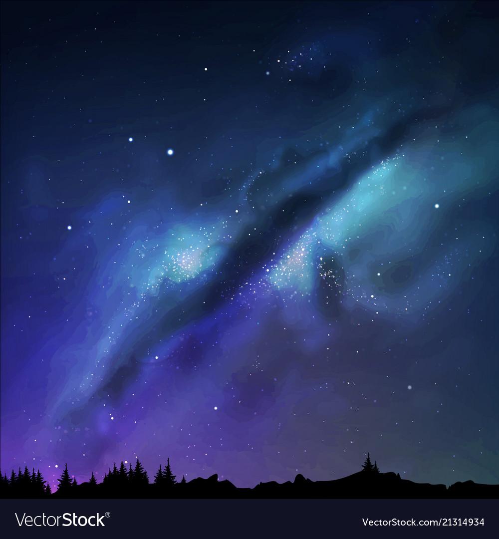 A milky way night sky eps