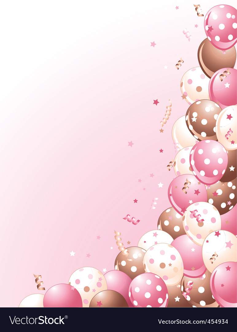 Balloons on a pink background