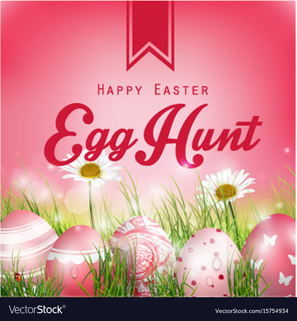 Beautiful easter red background