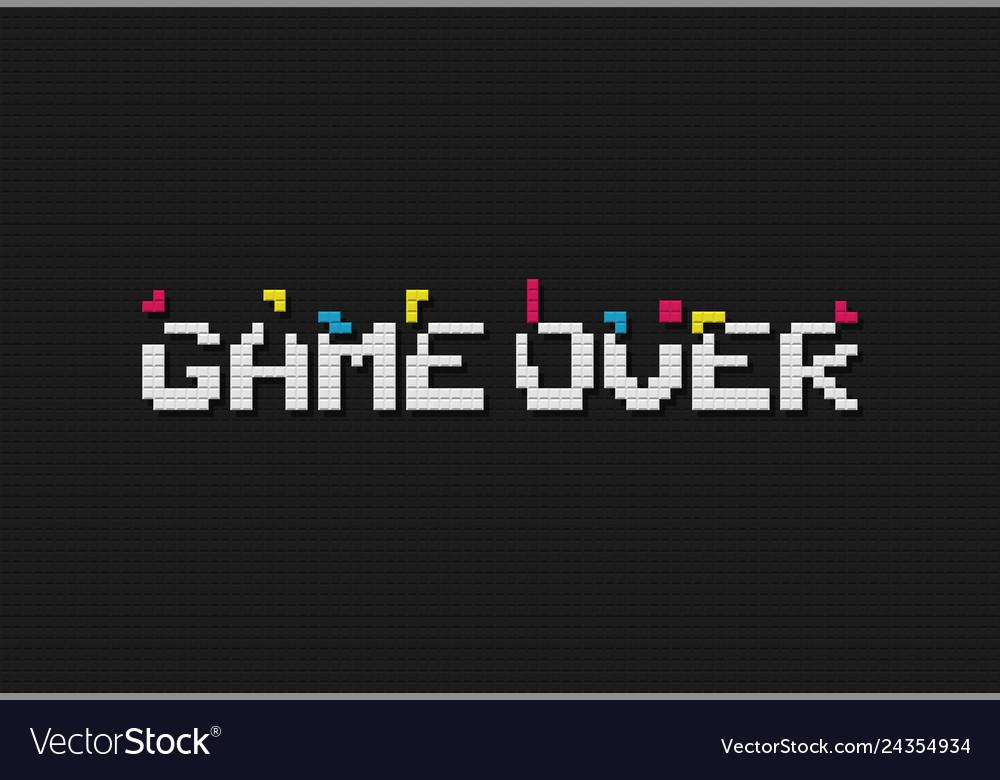 Game over retro video game