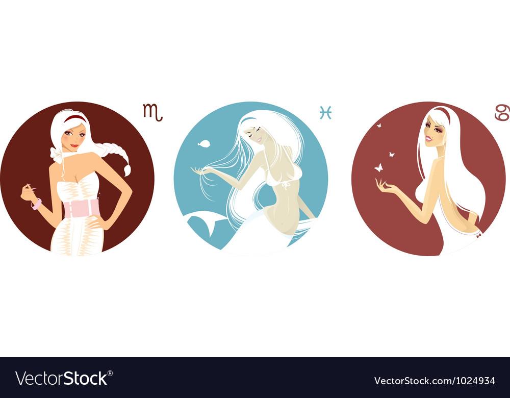 Horoscope set vector image