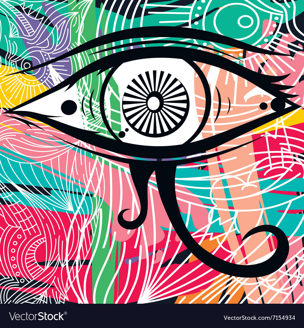 Horus eye abstract art vector image