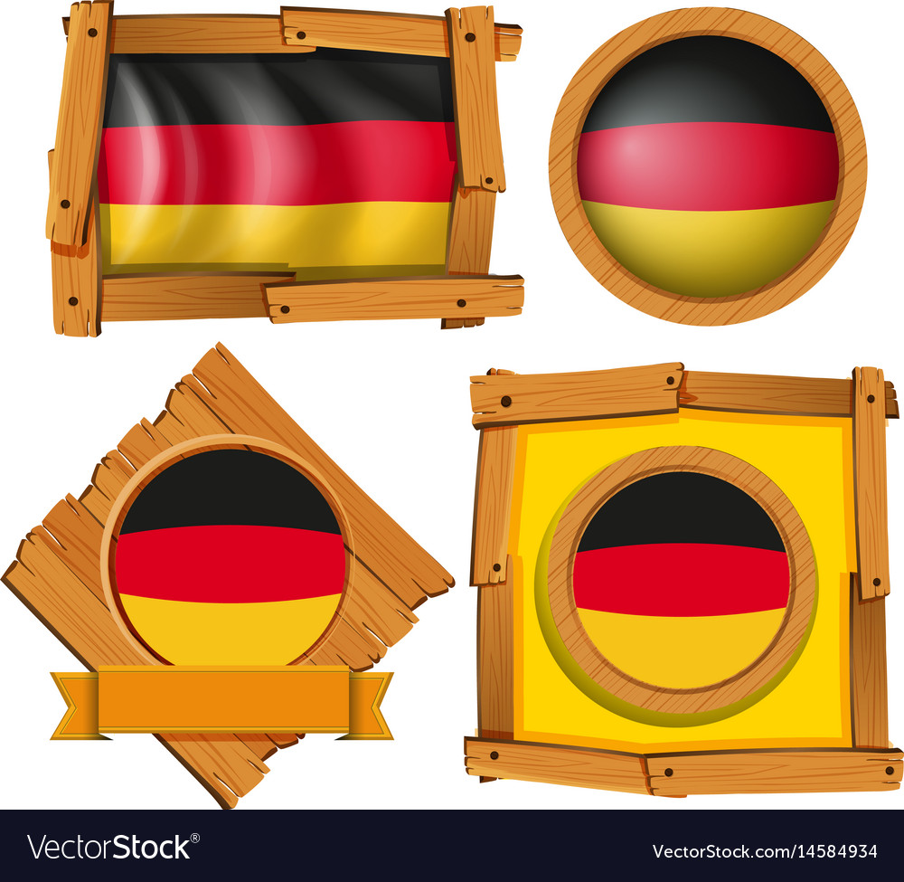 Icon design for flag of germany in different