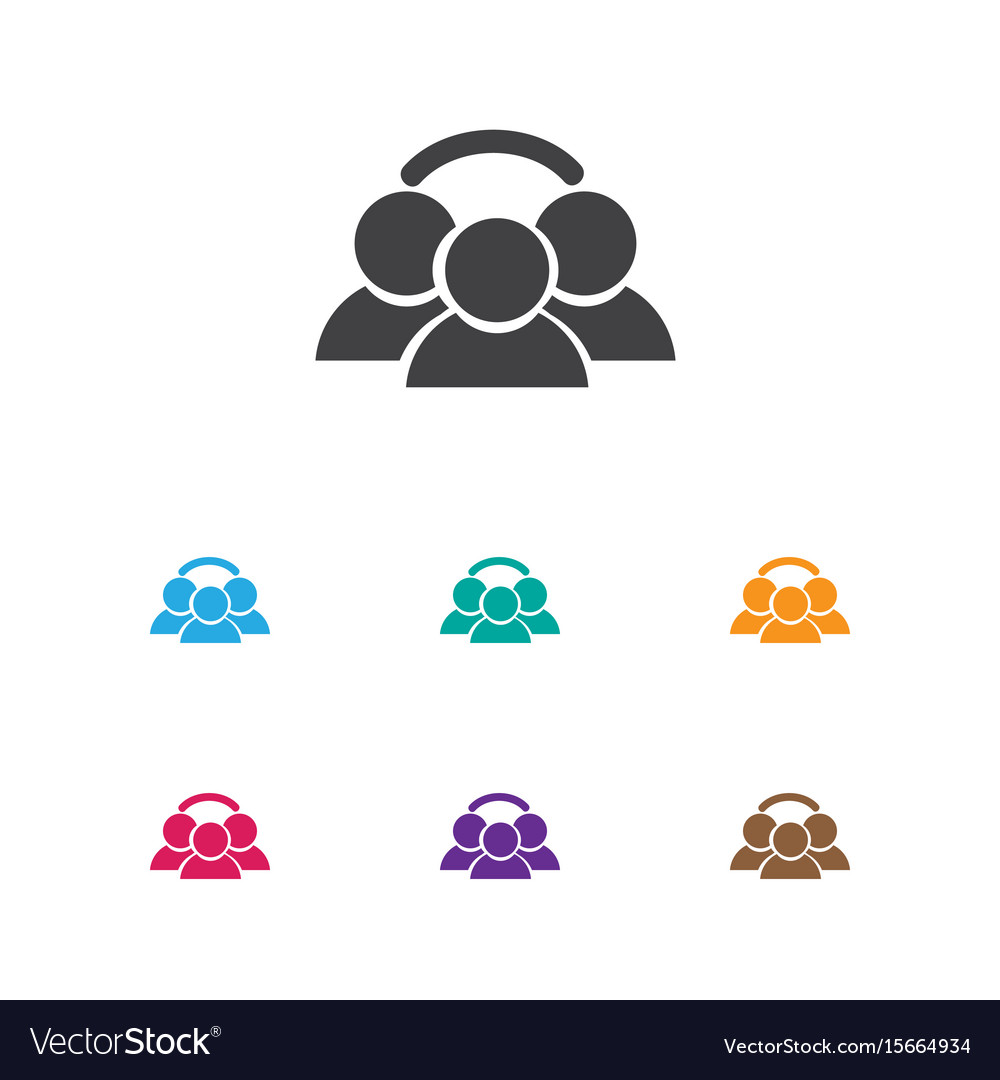 Of business symbol on group vector image