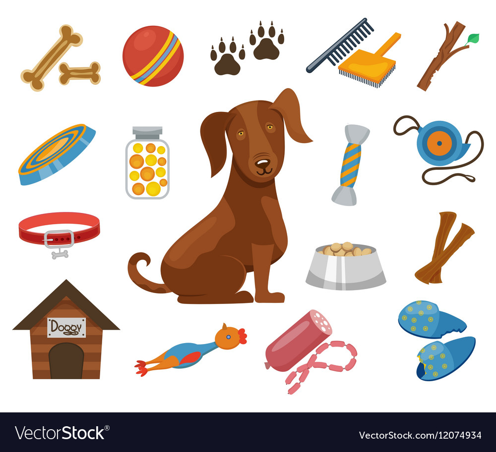 Pet dog icons