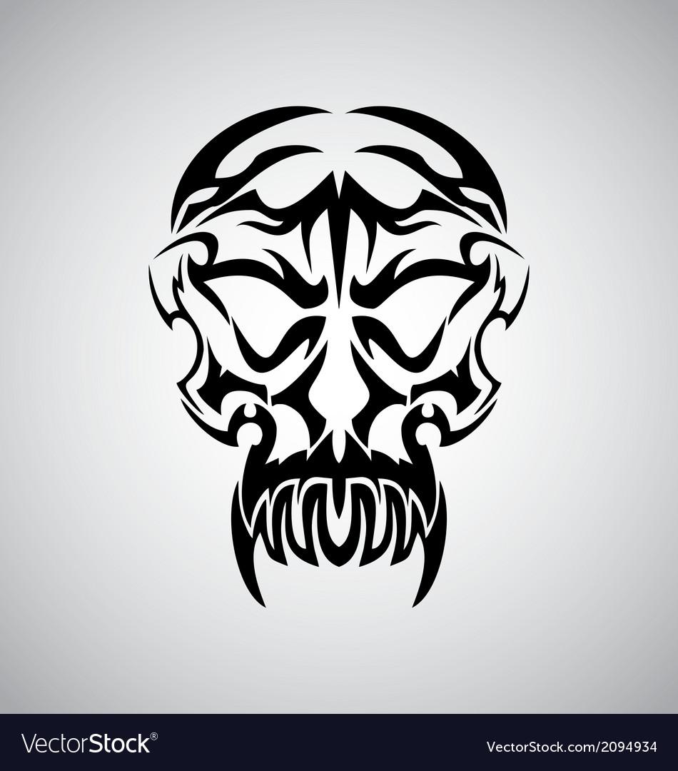 Tribal Demon Skull