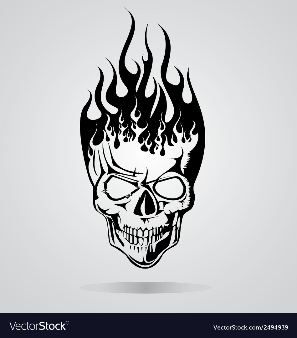 Burning Skull Tribal