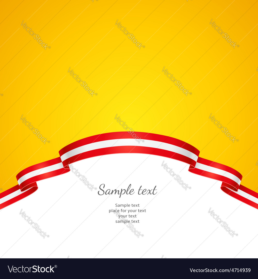 Flag background Austria vector image