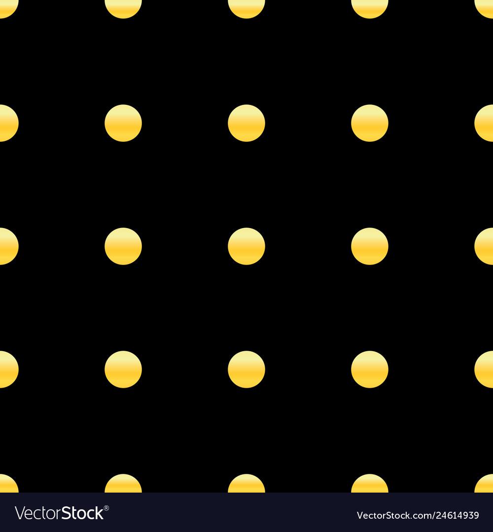 Golden dots seamless pattern abstract geometric