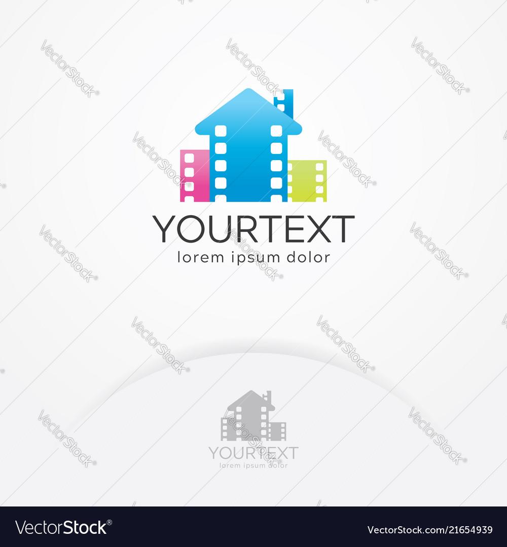 Home cinema logo design