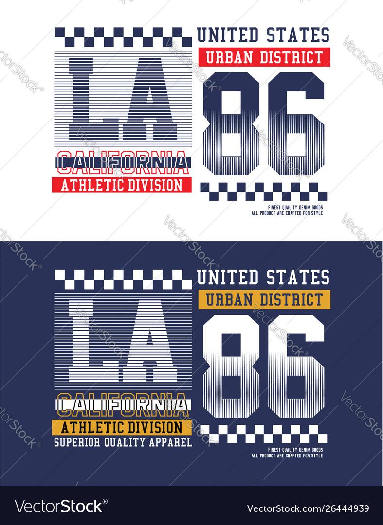 La california sport t-shirt graphics