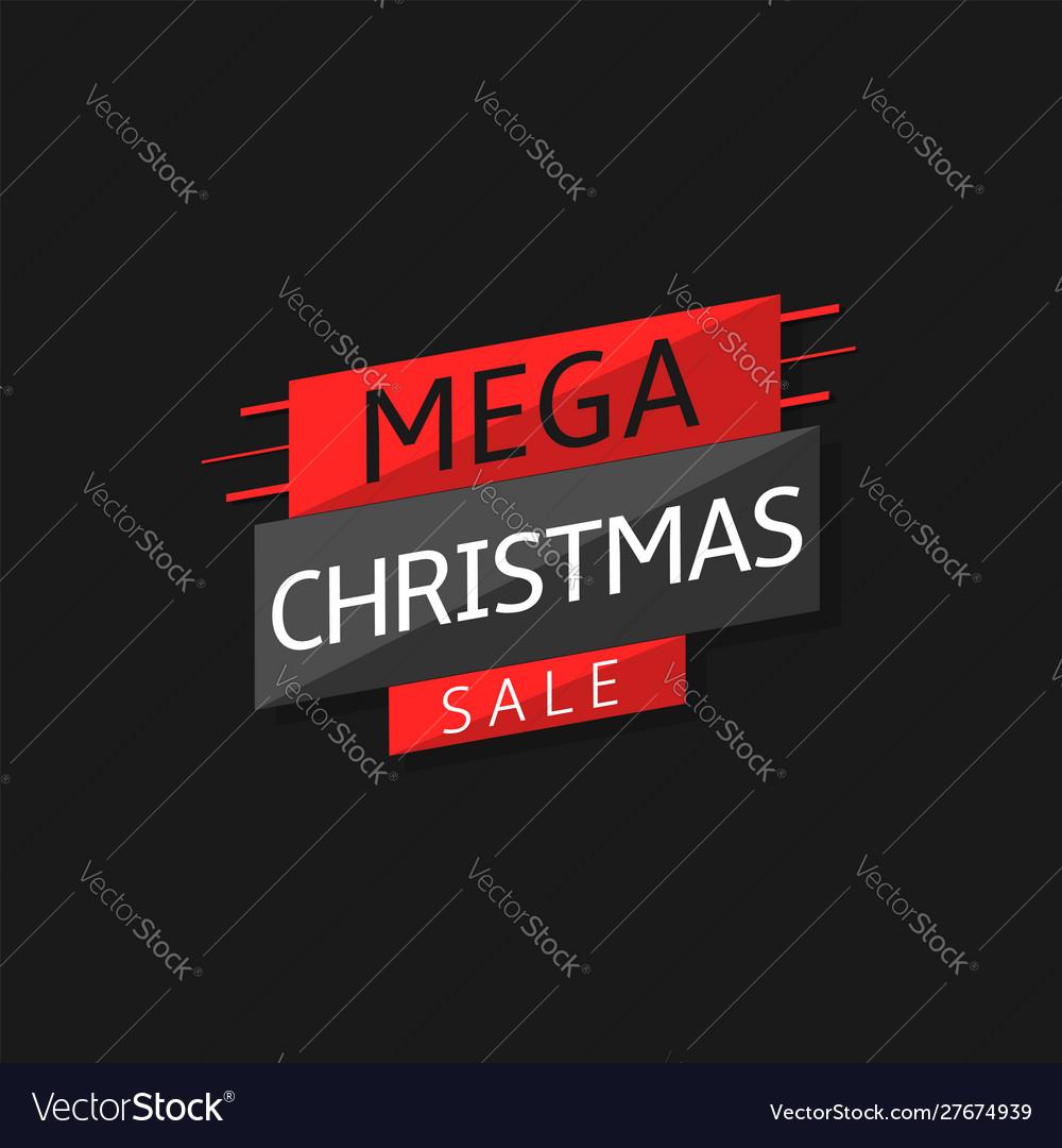 Mega christmas sale label