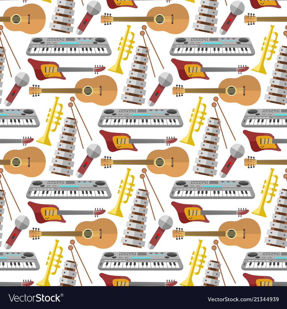 Music production seamless pattern background
