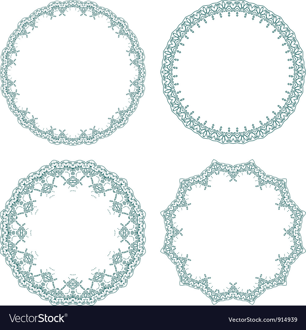 Round decorative frames Royalty Free Vector Image