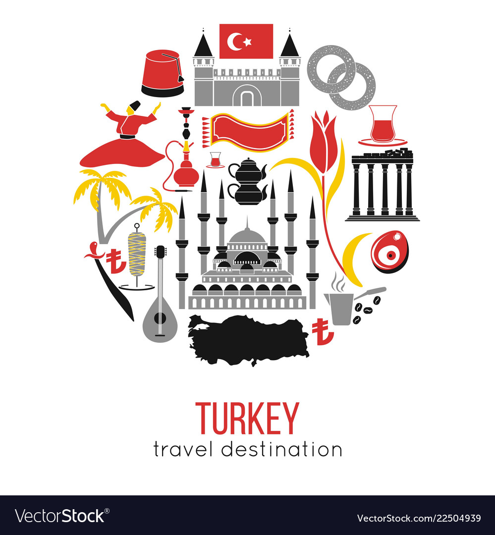 Set country turkey culture and traditional