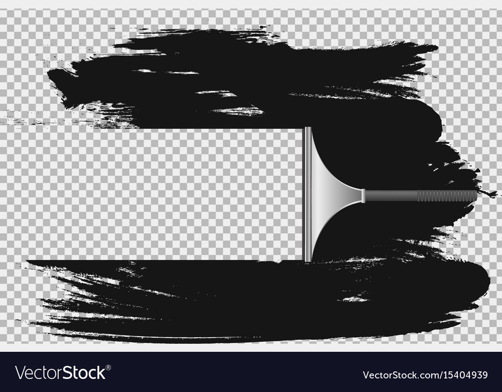Squeegee window clean effect vector image