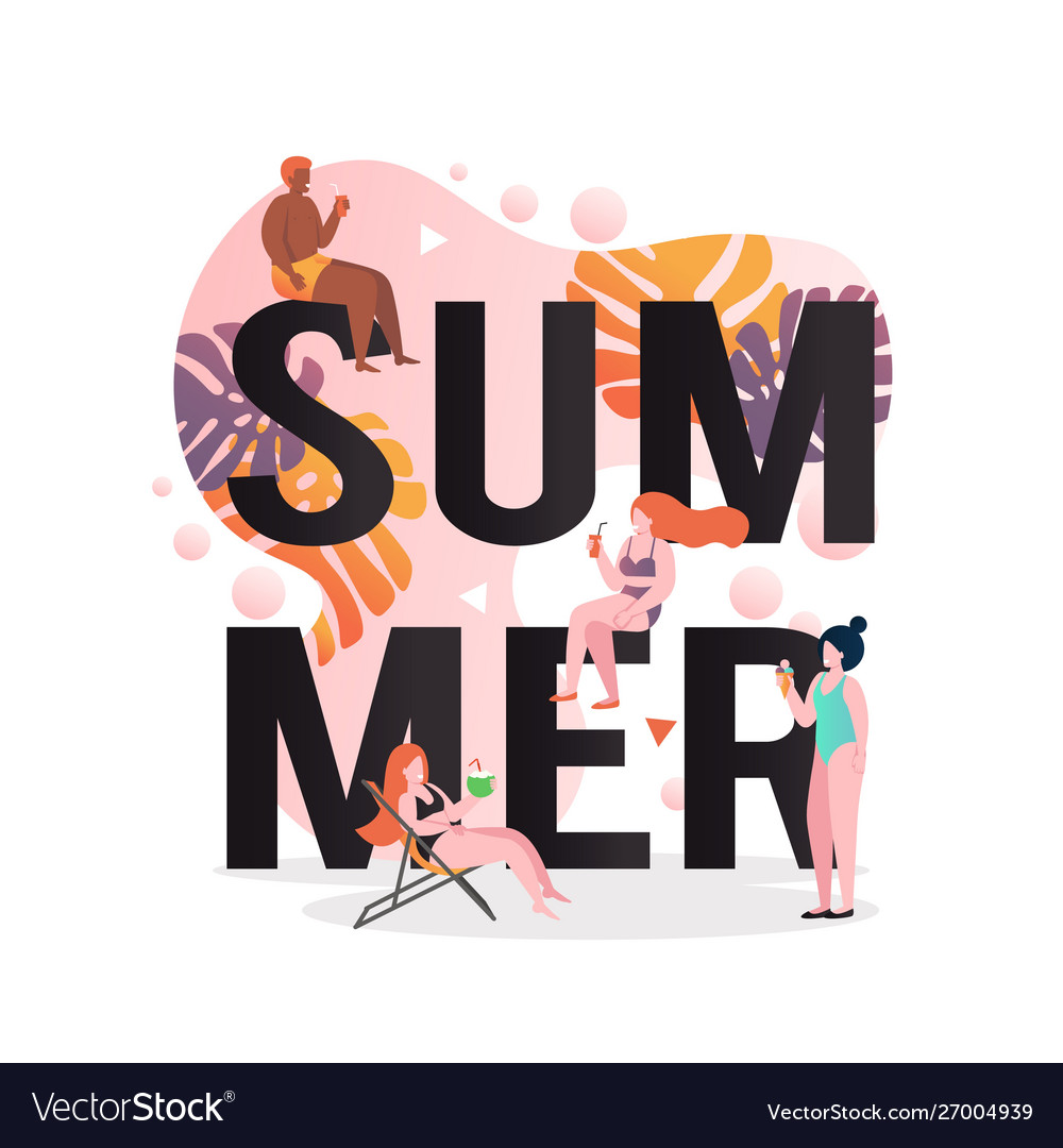 Summer concept for web banner website page