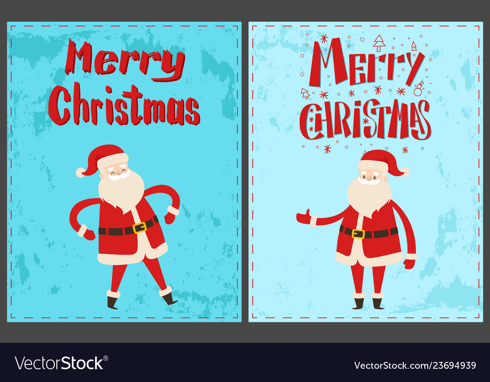 Winter holidays greeting card with santa claus